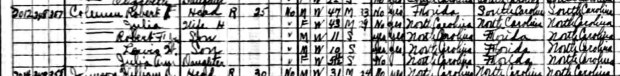 Robert Coleman in 1930 Census (detail)